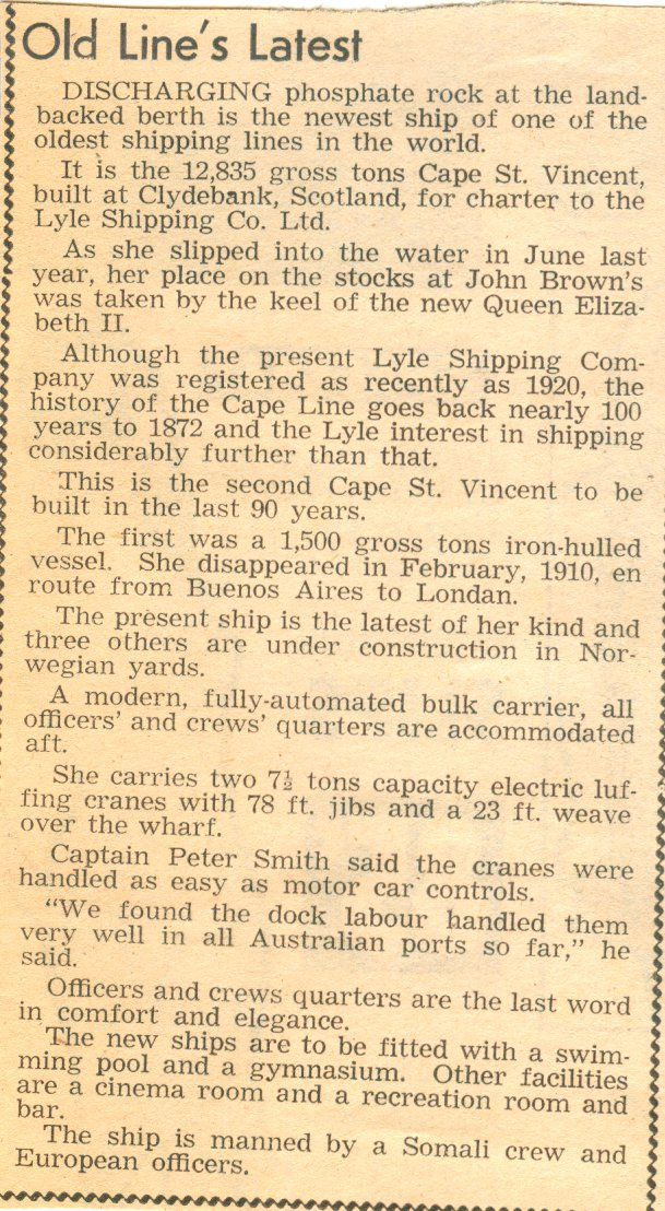 Cape St. Vincent Article